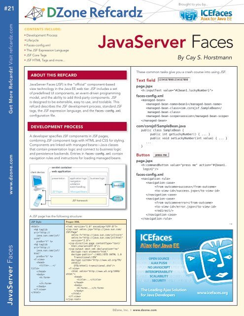 JavaServer Faces - rmccurdy.com