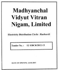 Madhyanchal Vidyut Vitran Nigam, Limited - MVVNL
