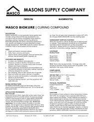 MASCO BIOKURE | CURING COMPOUND - masco.net