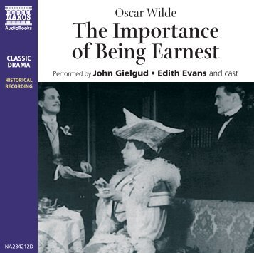 Being Earnest CD Booklet - Naxos Spoken Word Library