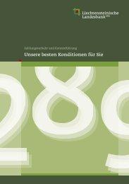Zahlungsverkehr und Kontenführung - Liechtensteinische Landesbank