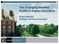 The Changing Student Profile in Higher Education