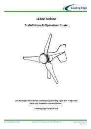 LE300 Turbine Installation & Operation Guide - Solar & Wind Store ...