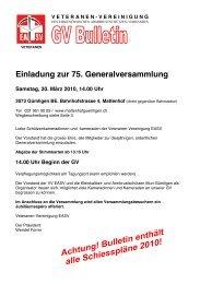 GV Bulletin - EASV