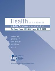 2003 Findings - State Health Access Data Assistance Center