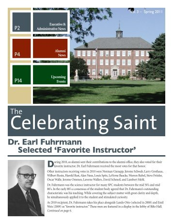 Alumni Newsletter Spring 2011 (PDF) - Saint Paul Lutheran High ...