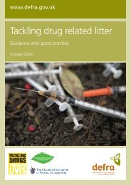 Tackling drug related litter: guidance and good practice - Gov.UK