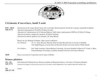 Cérémonie d'ouverture, lundi 5 août - Société de l'assurance ...