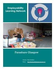 Fareshare Glasgow - June 2013 - Employability in Scotland