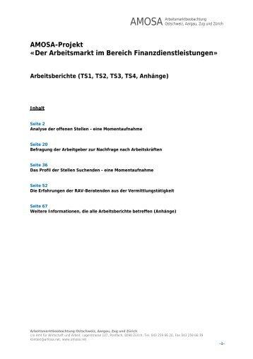 Arbeitsberichte - AMOSA