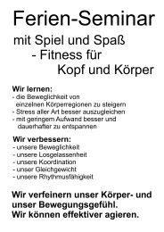 mit Spiel und Spaß - Fitness für Kopf und Körper - Fulda-pferd.de