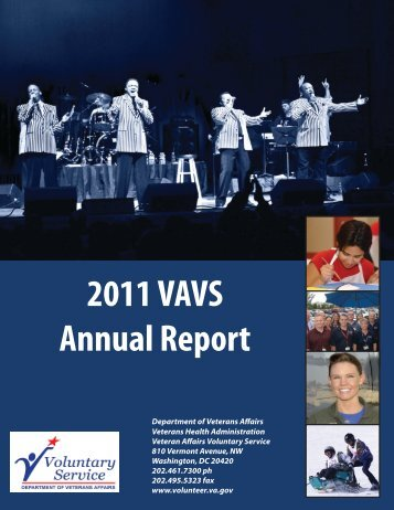 Annual Report 2011 Final-001.indd - VA Voluntary Service
