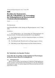 4608 Beschluss des Kantonsrates über die ... - Kanton Zürich