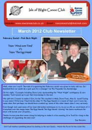 March 2012 Club Newsletter - IOW Canoe Club