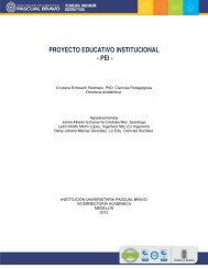 proyecto educativo institucional - Instituto Tecnológico Pascual Bravo