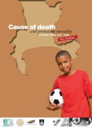 Cause of death and premature mortality in Cape Town, 2001