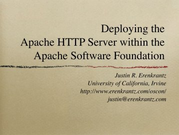 Deploying the Apache HTTP Server within the Apache Software ...