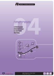 Strateško planiranje u sektoru puteva (pdf, 3 mb)