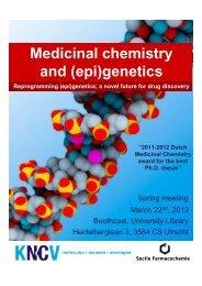 Medicinal chemistry and (epi)genetics - KNCV