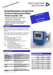 Bopp und Reuther Oval wheel meters series OG - ods-instrumentatie