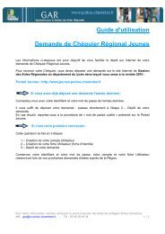 Procedure_Chequier regional jeunes - Région Poitou-Charentes