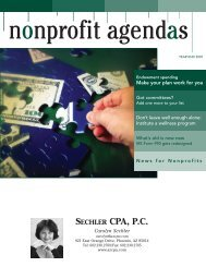 Make your plan work for you - Carolyn Sechler, CPA PC