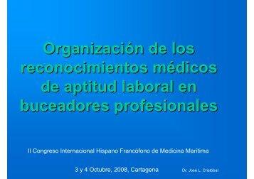 Organización de los reconocimientos médicos de aptitud ... - SEMM