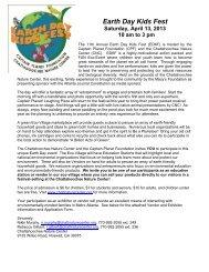 Earth Day Kids Fest - Chattahoochee Nature Center