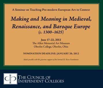 renaissance europe baroques traditions Andrew dickson follows the progress of the renaissance through europe, and examines the educational, religious, artistic and geographical developments that shaped culture during the period.
