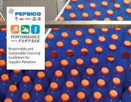 Responsible and Sustainable Sourcing Guidelines for ... - PepsiCo