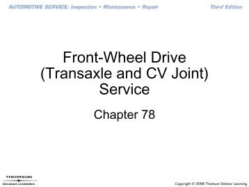 Front-Wheel Drive (Transaxle and CV Joint) Service