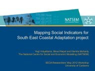 Mapping Social Indicators for South East Coastal Adaptation project