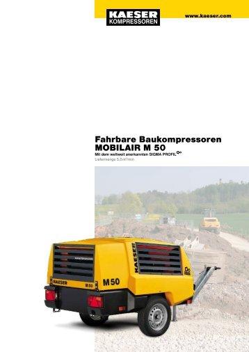 Fahrbare Baukompressoren MOBILAIR M 50