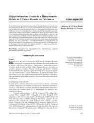 caso especial Hipopituitarismo Associado a Hipoglicemia ... - SciELO