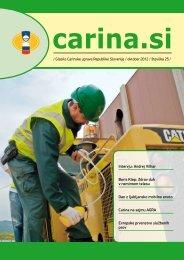 Åtevilka 25, oktober 2012 - Carinska uprava Republike Slovenije