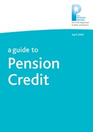 PC10 Pension Credit - Communities and Local Government