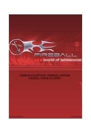 AUFBAUANLEITUNG FIREBALL-KICKER MODELL HOME 02 (2007)