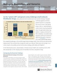 Health Care Consulting Bulletin, Fall/Winter 2010 - Analysis Group
