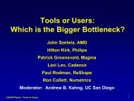 Tools or Users - UCSD VLSI CAD Laboratory - UC San Diego