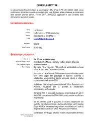 curriculum vitae - ASL 1 di Massa e Carrara