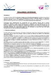 RÈGLEMENT INTÉRIEUR - Lycée Lyautey