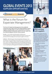 GLOBAL EVENTS 2013 - Forum for Expatriate Management