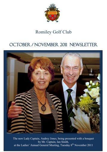 Annual Dinner 2011 - Romiley Golf Club