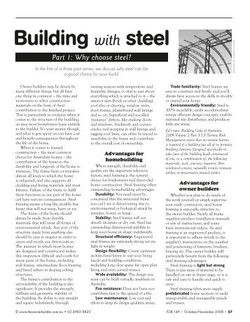 Building with Steel - 3 parts, #149-151 (~800KB) - The Owner Builder