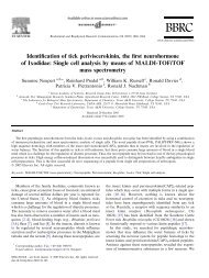 Identification of tick periviscerokinin, the first neurohormone of ...