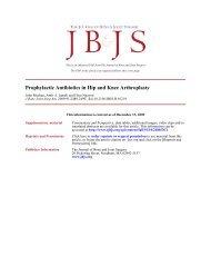 Prophylactic Antibiotics in Hip and Knee Arthroplasty