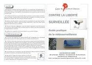 CONTRE LA LIBERTÉ SURVEILLÉE - Ligue des droits de l'Homme