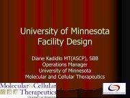Facility Design UMN_ D.Kadidlo