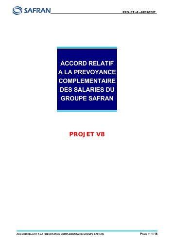 accord relatif a la prevoyance complementaire des salaries du ...