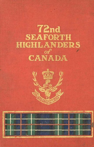 72nd Seaforth Highlanders of Canada - waughfamily.ca